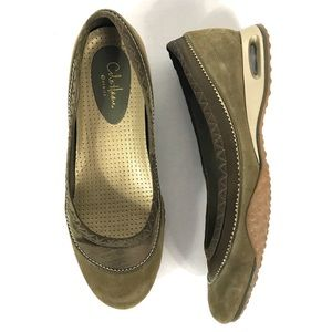 Cole Haan X Nike Air Comfort Flats Olive Green